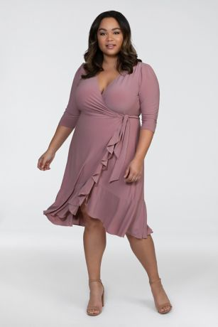 Soft & Flowy Kiyonna Short Bridesmaid Dress