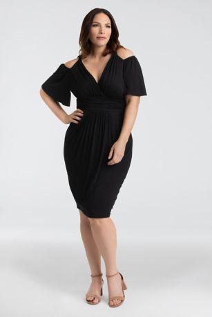 Tea Length Off the Shoulder Dress - Kiyonna