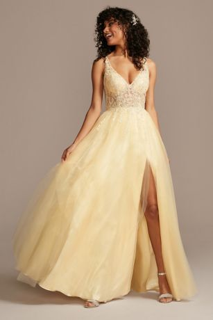 Long Ballgown Tank Dress - Blondie Nites