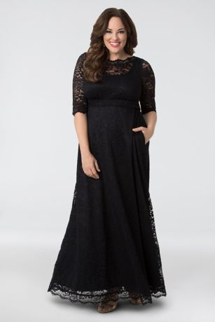 Long Sheath 3/4 Sleeves Dress - Kiyonna