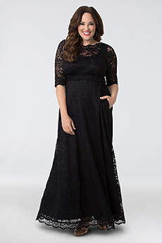 Long Sheath 3/4 Sleeves Formal Dresses Dress - Kiyonna