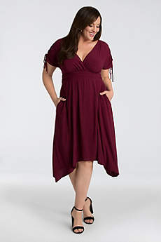 Short Short Sleeves Cocktail and Party Dress - Kiyonna