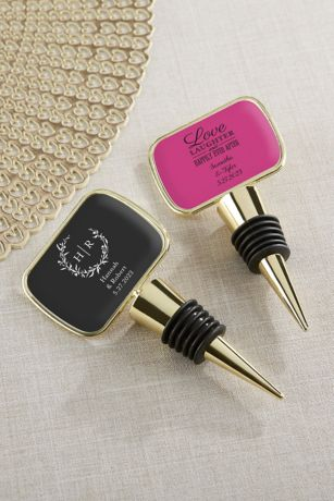 Personalized Gold Bottle Stopper