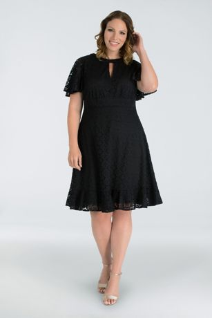 Short Cap Sleeves Dress - Kiyonna