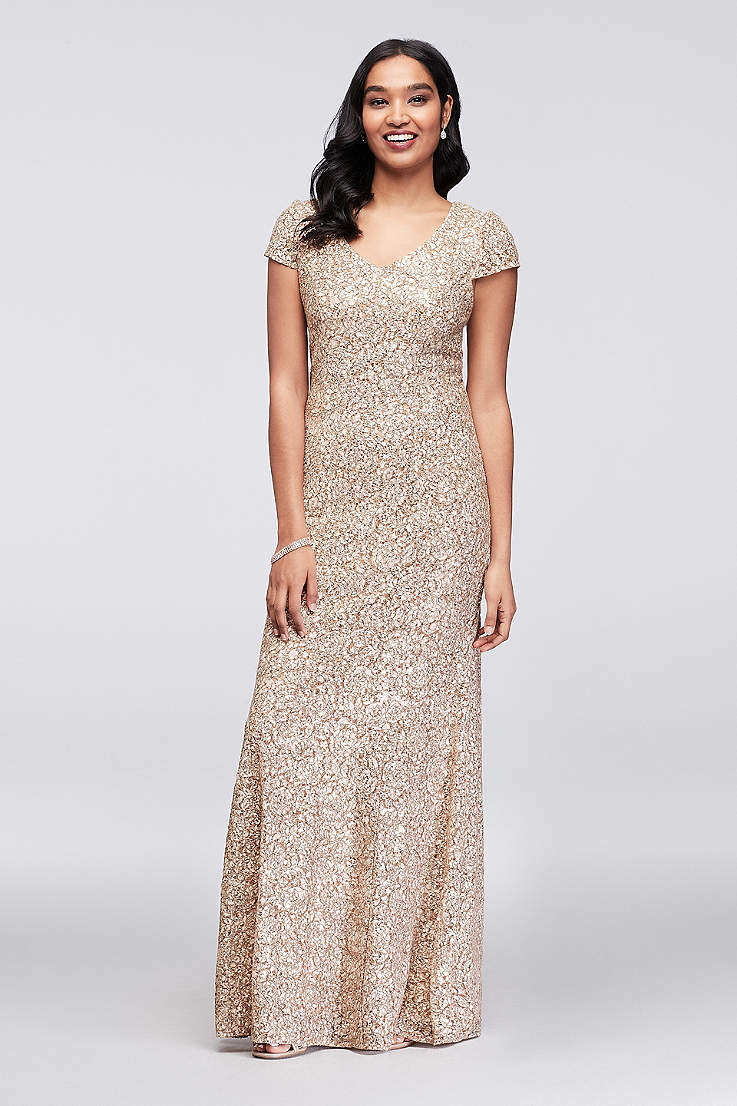 712c8af2e182a Mother of the Bride Dresses in Silver, Gold and Champagne | Davids ...
