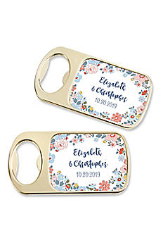Personalized Floral Pattern Gold Bottle Opener 11242GD-DBF