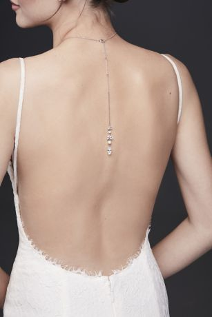 Pearl and Crystal Leaf Front-Back Necklace
