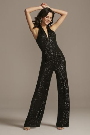 Long Jumpsuit Halter Dress - Jump