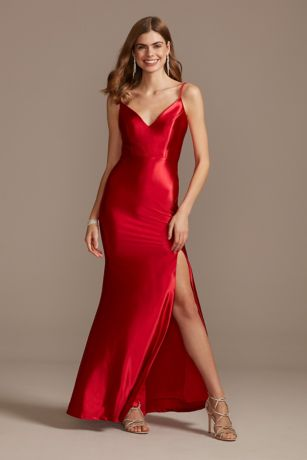 Long Sheath Spaghetti Strap Dress - Jump
