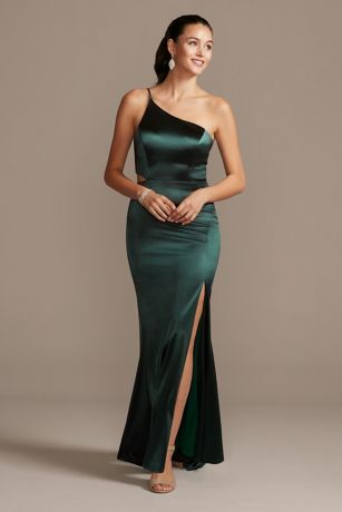 Long Sheath One Shoulder Dress - Jump
