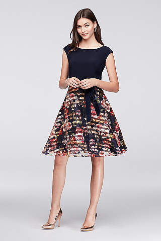 Short A Line Cap Sleeves Tail And Party Dress Ignite