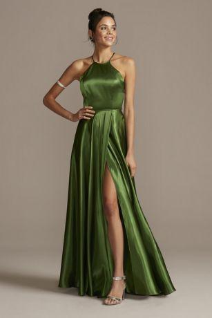 Long A-Line Halter Dress - Blondie Nites