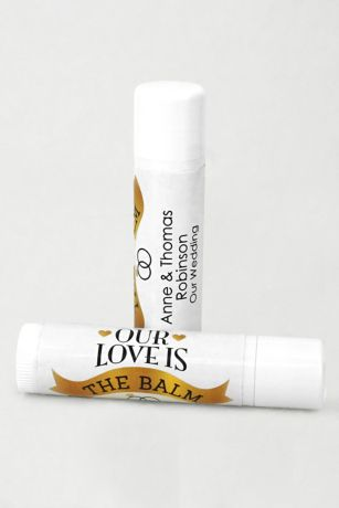 Personalized Wedding Favor Lip Balms