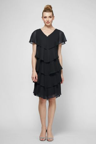 Short Sheath Short Sleeves Dress - SL Fashions