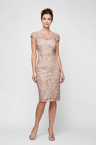 The Mother of Bride Knee Length Cocktail Dress