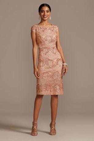 Lace Dresses Short Long Styles David S Bridal