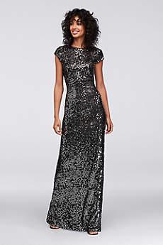 Long Sheath Short Sleeves Formal Dresses Dress - SL Fashions