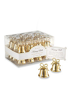 Gold Kissing Bells Place Card Holder Set of 24 12008GD