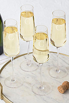 Personalized Champagne Estate Glass Set of 4 12084