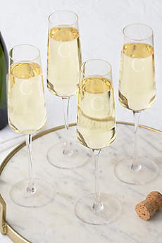 Personalized Champagne Estate Glass Set of 4