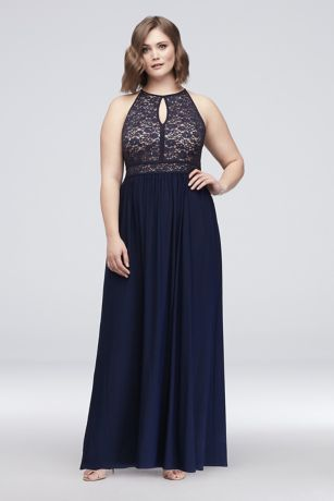 Long A-Line Halter Dress - Nightway