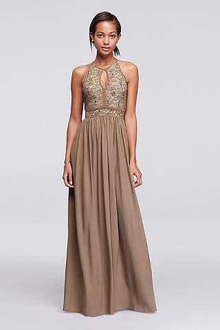 Long A Line Halter Formal Dresses Dress Morgan And Co