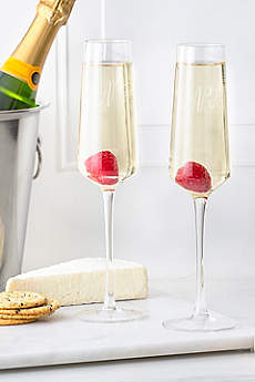 Personalized Monogram Champagne Estate Glasses Set