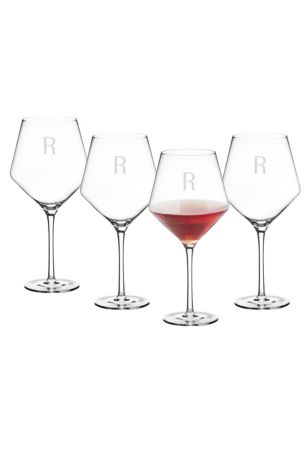 Personalized 23oz Red Wine Estate Glass Set of 4
