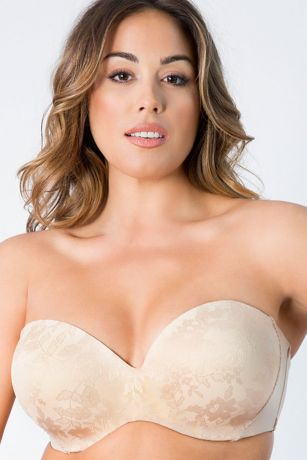 Curvy Couture Strapless Convertible Push-Up Bra
