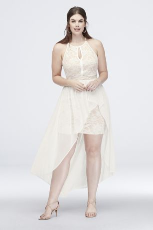 High Low A-Line Halter Dress - Morgan and Co