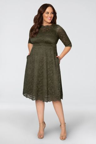 f0feef0d88a6 Short 3 4 Sleeves Dress - Kiyonna