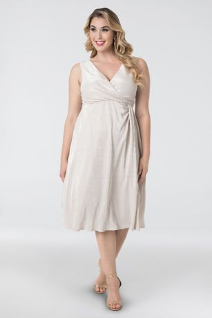 Tea Length Sheath Tank Dress - Kiyonna