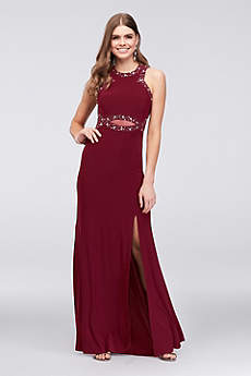 Long Sheath Elbow Sleeves Formal Dresses Dress - Morgan and Co