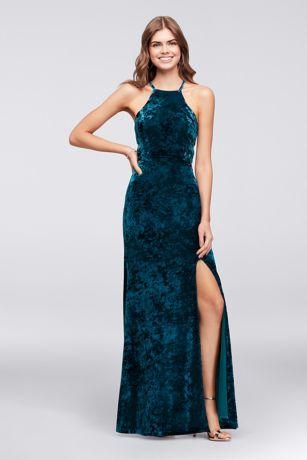 Long Sheath Halter Dress - Morgan and Co