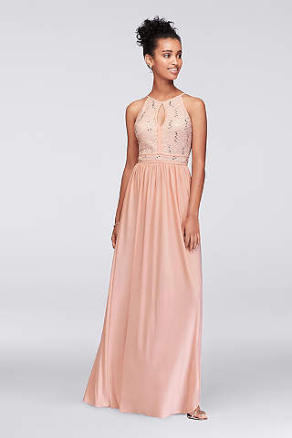 Long A Line Halter Formal Dresses Dress   Morgan And Co