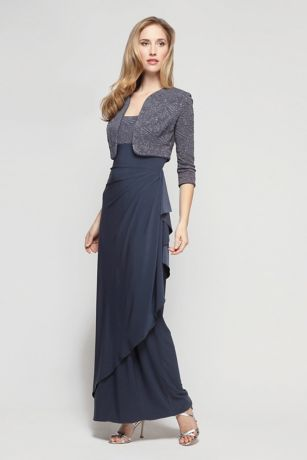 Long Sheath Jacket Dress - Alex Evenings