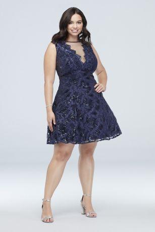 Short Ballgown Strapless Dress - Morgan and Co