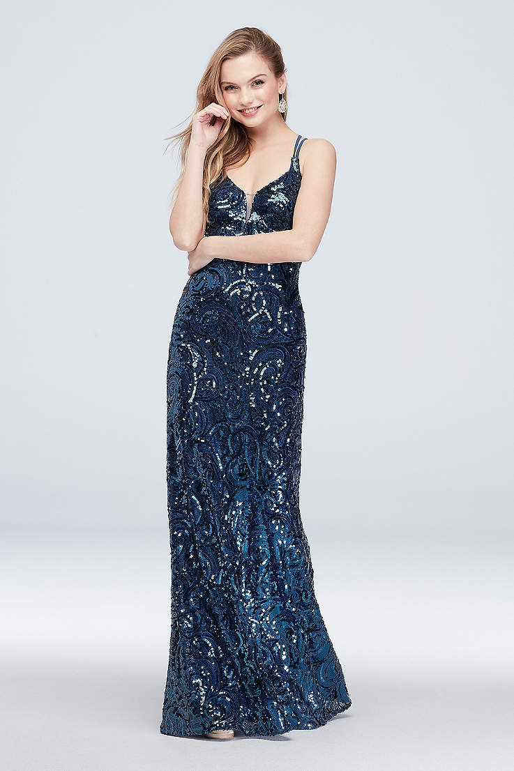 50be908b Sparkly, Sequin Prom Dresses in Glittery Colors | David's Bridal