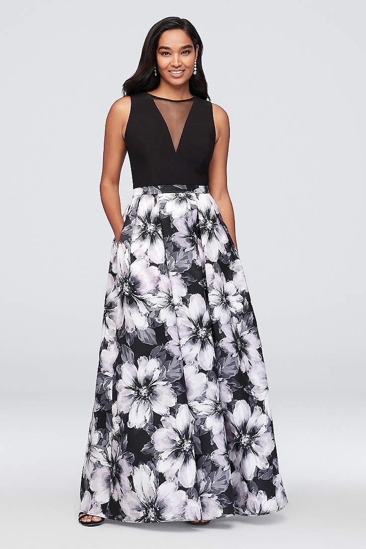 02164b04d03b Black and White Dresses Formal, Long & Short Dresses | Davids Bridal