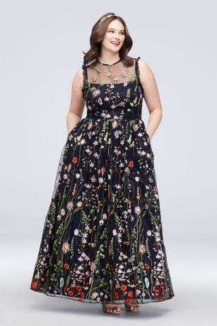 Long Ballgown Tank Dress - Morgan and Co