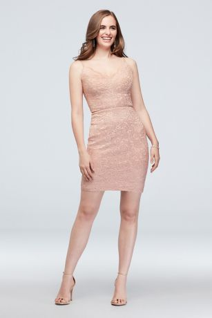 Short Sheath Spaghetti Strap Dress - Morgan and Co