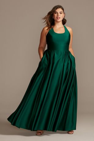 Long Ballgown Tank Dress - Morgan and Co