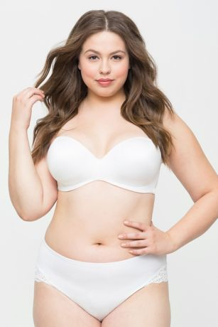 Curvy Couture Smooth Strapless Multi-Way Bra