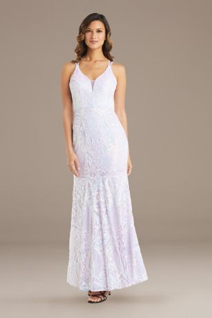 Long Mermaid / Trumpet Spaghetti Strap Dress - Morgan and Co