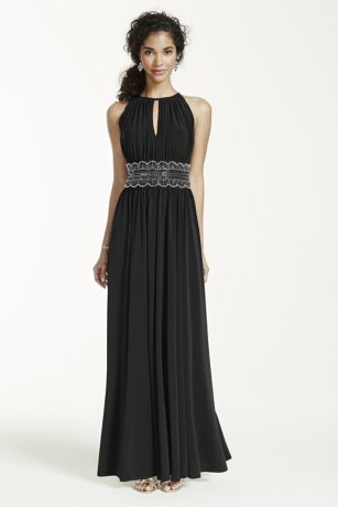 Long A-Line;Sheath Halter Dress - RM Richards