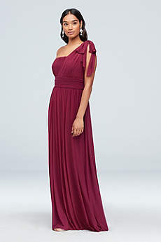 Long A-Line One Shoulder Formal Dresses Dress - Haute Nites
