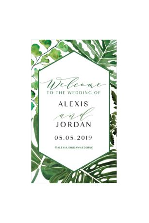 Greenery Personalized Welcome Sign