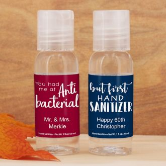 Personalized Hand Sanitizer Favors
