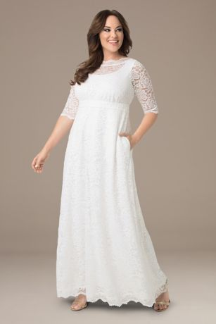 Long A-Line Wedding Dress - Kiyonna