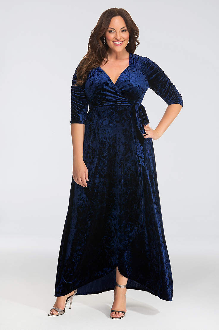 High Neck Casual Plus Size Maxi Dresses